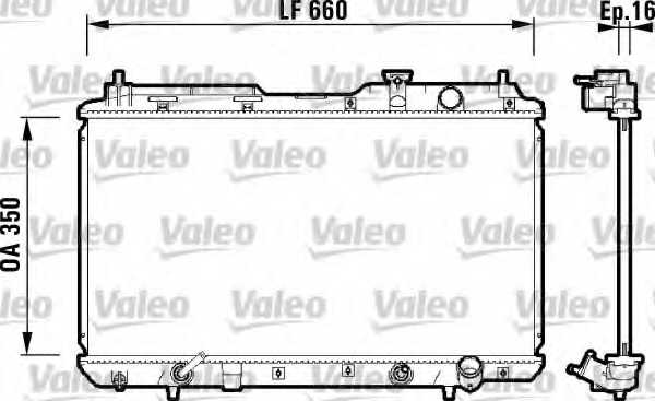 Радиатор охлаждения двигателя VALEO 734110 - изображение