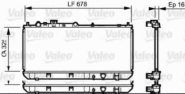Радиатор охлаждения двигателя VALEO 734123 - изображение