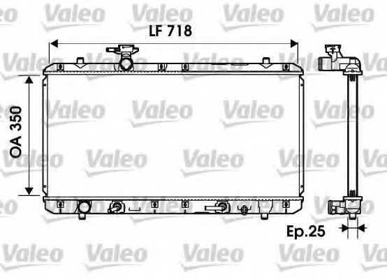 Радиатор охлаждения двигателя VALEO 734165 - изображение