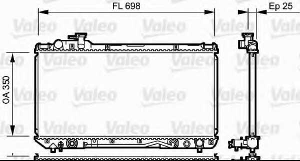 Радиатор охлаждения двигателя VALEO 734172 - изображение