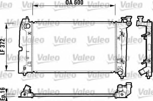 Радиатор охлаждения двигателя VALEO 734200 - изображение