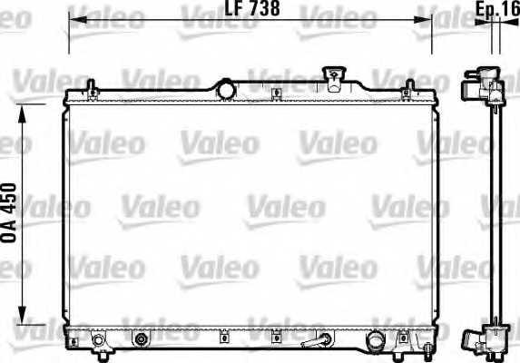 Радиатор охлаждения двигателя VALEO 734201 - изображение