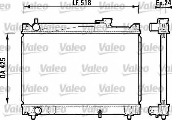 Радиатор охлаждения двигателя VALEO 734213 - изображение
