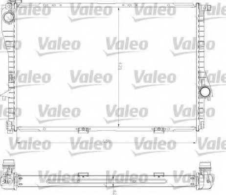 Радиатор охлаждения двигателя VALEO 734277 - изображение