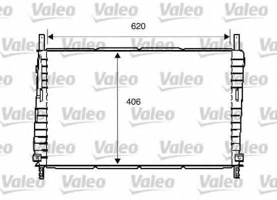 Радиатор охлаждения двигателя VALEO 734286 - изображение