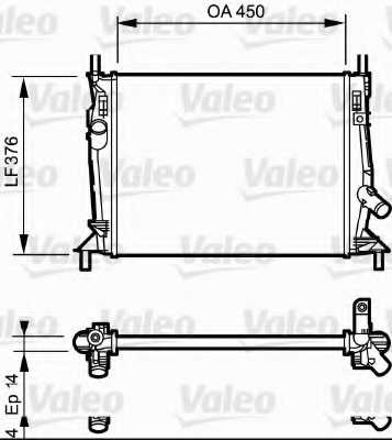 Радиатор охлаждения двигателя VALEO 734319 - изображение