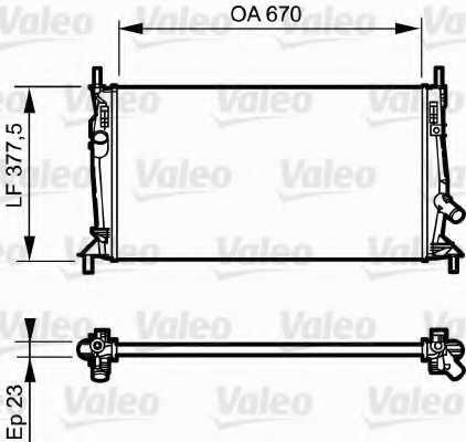 Радиатор охлаждения двигателя VALEO 734320 - изображение