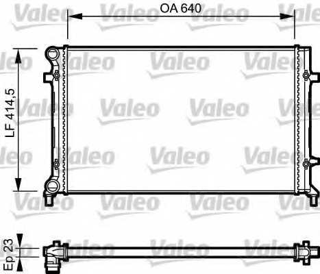 Радиатор охлаждения двигателя VALEO 734332 - изображение