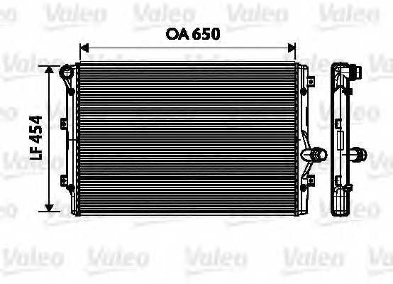 Радиатор охлаждения двигателя VALEO 734333 - изображение