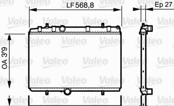Радиатор охлаждения двигателя VALEO 734338 - изображение