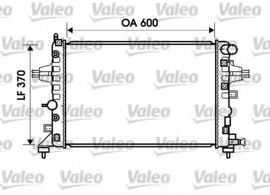 Радиатор охлаждения двигателя VALEO 734381 - изображение