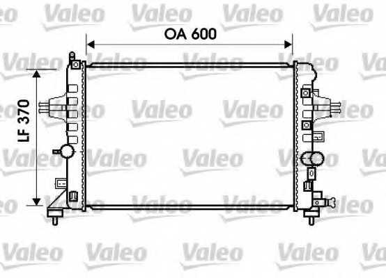 Радиатор охлаждения двигателя VALEO 734382 - изображение