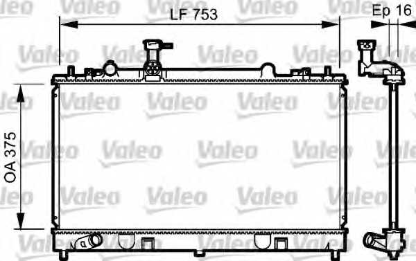 Радиатор охлаждения двигателя VALEO 734484 - изображение