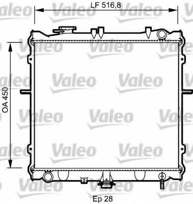 Радиатор охлаждения двигателя VALEO 734788 - изображение