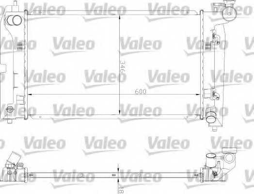 Радиатор охлаждения двигателя VALEO 734851 - изображение