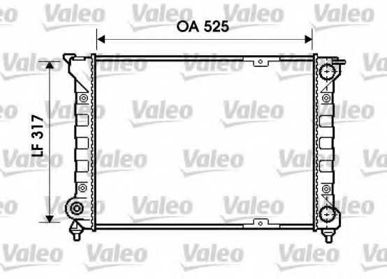 Радиатор охлаждения двигателя VALEO 734853 - изображение