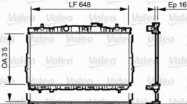 Радиатор охлаждения двигателя VALEO 734903 - изображение