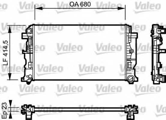 Радиатор охлаждения двигателя VALEO 734926 - изображение
