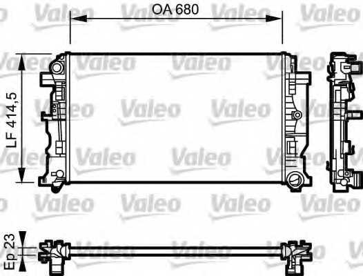 Радиатор охлаждения двигателя VALEO RM1597 / 734927 - изображение