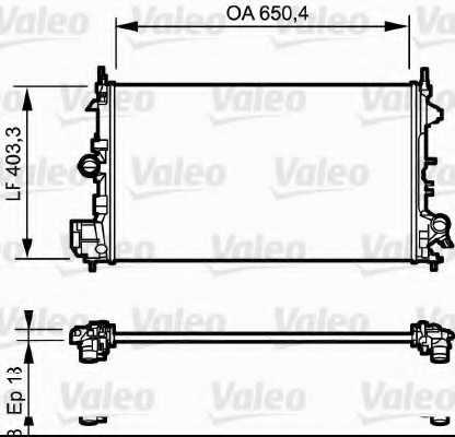 Радиатор охлаждения двигателя VALEO 734981 - изображение