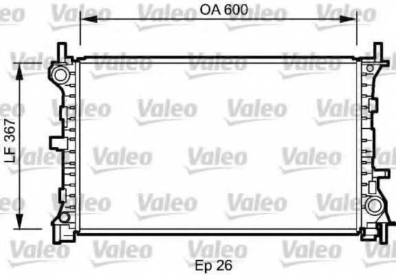 Радиатор охлаждения двигателя VALEO 735046 - изображение
