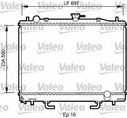 Радиатор охлаждения двигателя VALEO 735059 - изображение