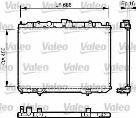 Радиатор охлаждения двигателя VALEO 735064 - изображение