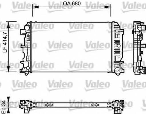 Радиатор охлаждения двигателя VALEO 735084 - изображение