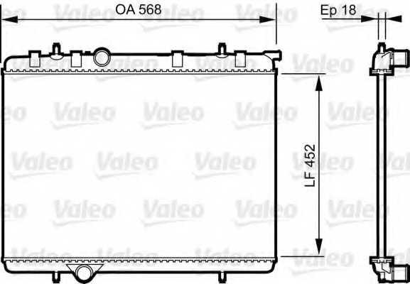Радиатор охлаждения двигателя VALEO 735090 - изображение