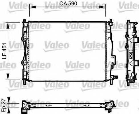 Радиатор охлаждения двигателя VALEO 735116 - изображение