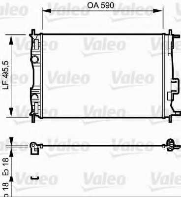 Радиатор охлаждения двигателя VALEO 735119 - изображение