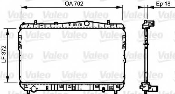 Радиатор охлаждения двигателя VALEO 735159 - изображение
