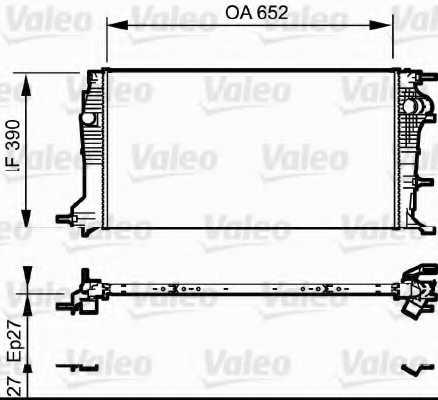 Радиатор охлаждения двигателя VALEO 735182 - изображение