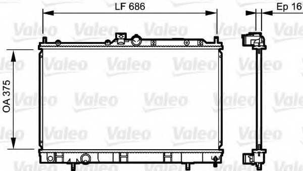 Радиатор охлаждения двигателя VALEO 735198 - изображение