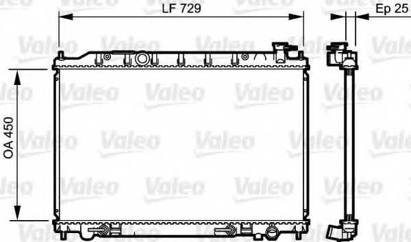 Радиатор охлаждения двигателя VALEO 735204 - изображение
