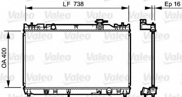 Радиатор охлаждения двигателя VALEO 735214 - изображение