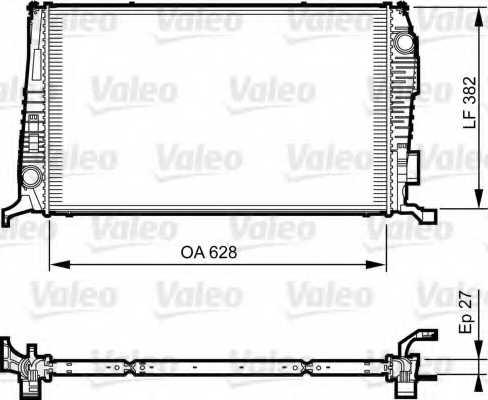 Радиатор охлаждения двигателя VALEO 735279 - изображение