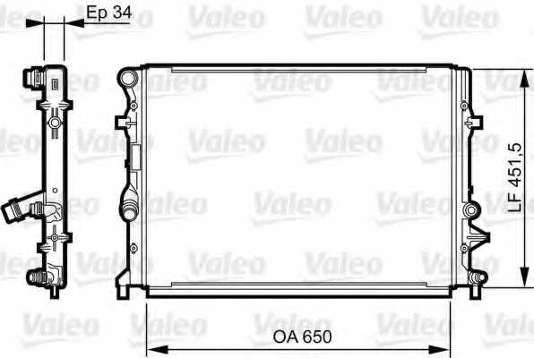 Радиатор охлаждения двигателя VALEO 735280 - изображение