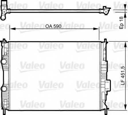 Радиатор охлаждения двигателя VALEO 735281 - изображение