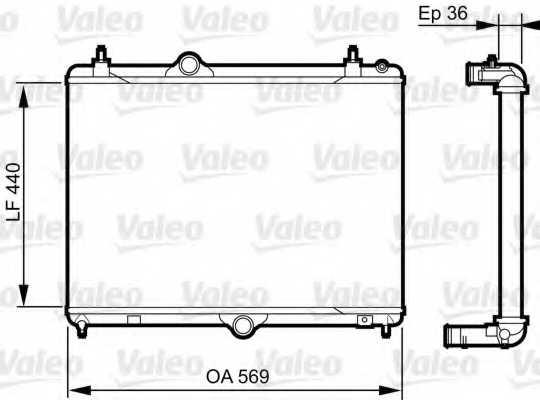 Радиатор охлаждения двигателя VALEO 735371 - изображение