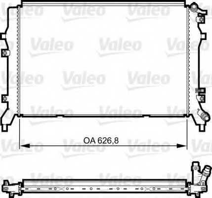 Радиатор охлаждения двигателя VALEO 735375 - изображение