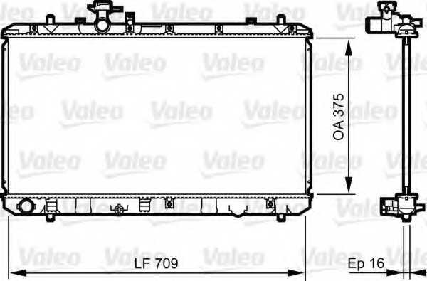 Радиатор охлаждения двигателя VALEO 735407 - изображение