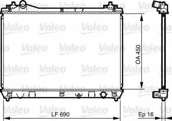 Радиатор охлаждения двигателя VALEO 735433 - изображение