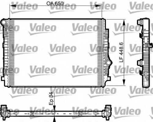 Радиатор охлаждения двигателя VALEO 735549 - изображение