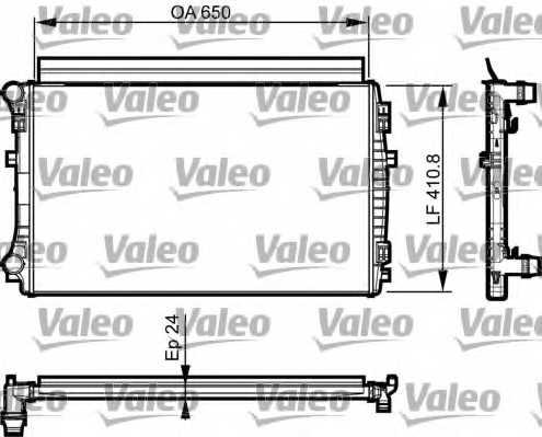 Радиатор охлаждения двигателя VALEO 735558 - изображение