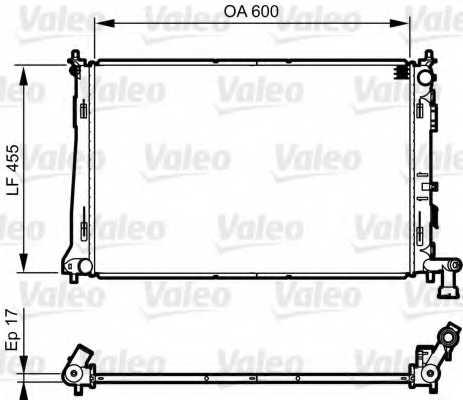 Радиатор охлаждения двигателя VALEO 735564 - изображение