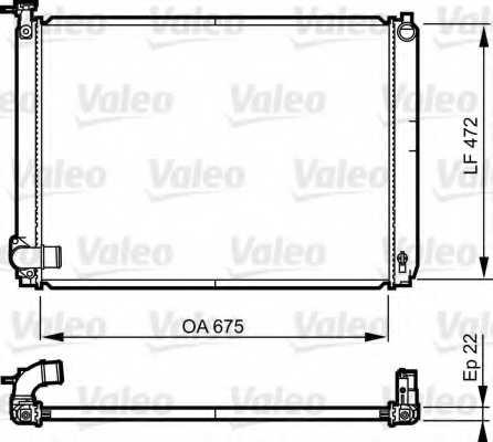 Радиатор охлаждения двигателя VALEO 735571 - изображение