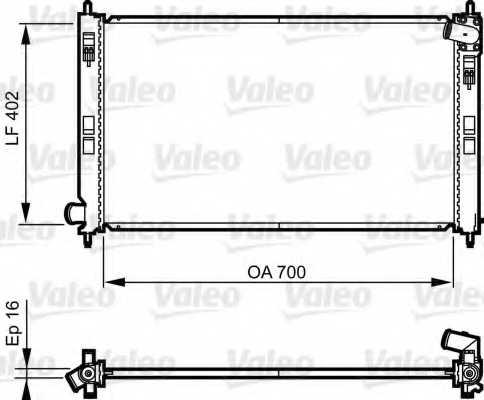 Радиатор охлаждения двигателя VALEO 735575 - изображение