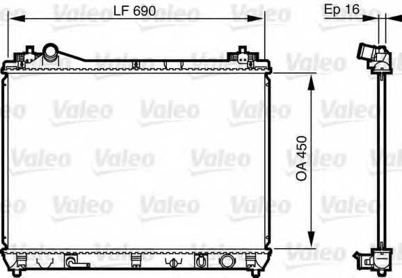 Радиатор охлаждения двигателя VALEO 735580 - изображение