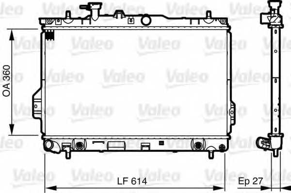 Радиатор охлаждения двигателя VALEO 735606 - изображение